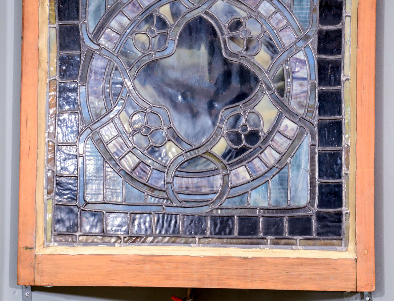 American Original Tiffany Stained Gl Gothic Arched Window For