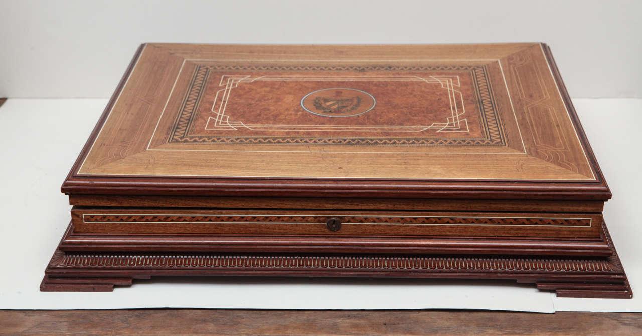 Circa 1940 Cuban Cigar Box Elaborate Inlay