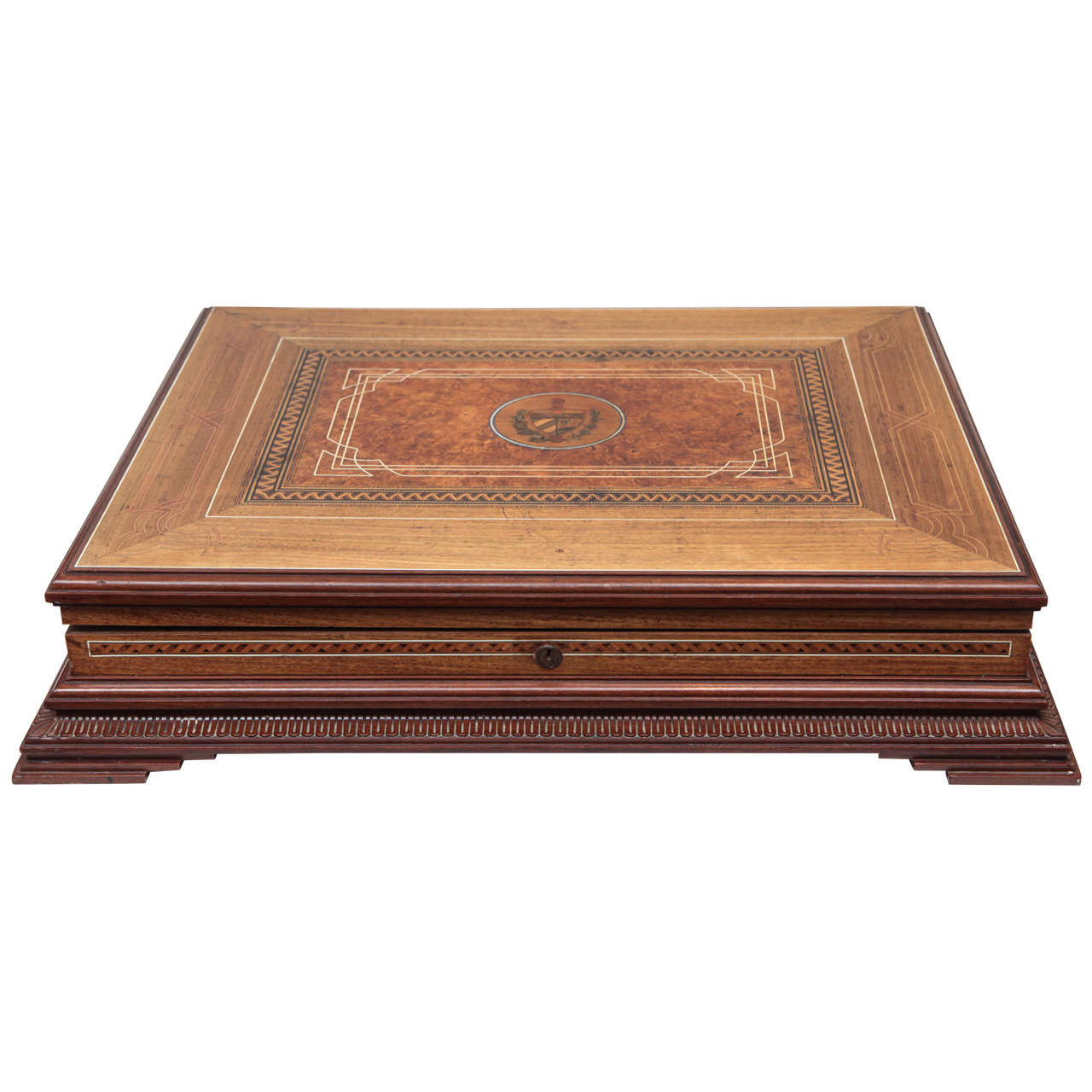 Circa 1940 cuban cigar box elaborate inlay for sale at 1stdibs for Furniture box