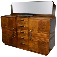 French Art Deco Buffet in Solid Walnut