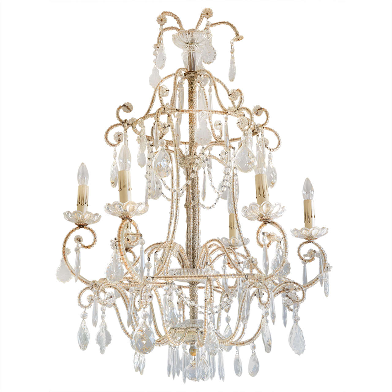 Italian Maria Theresa Beaded Chandelier