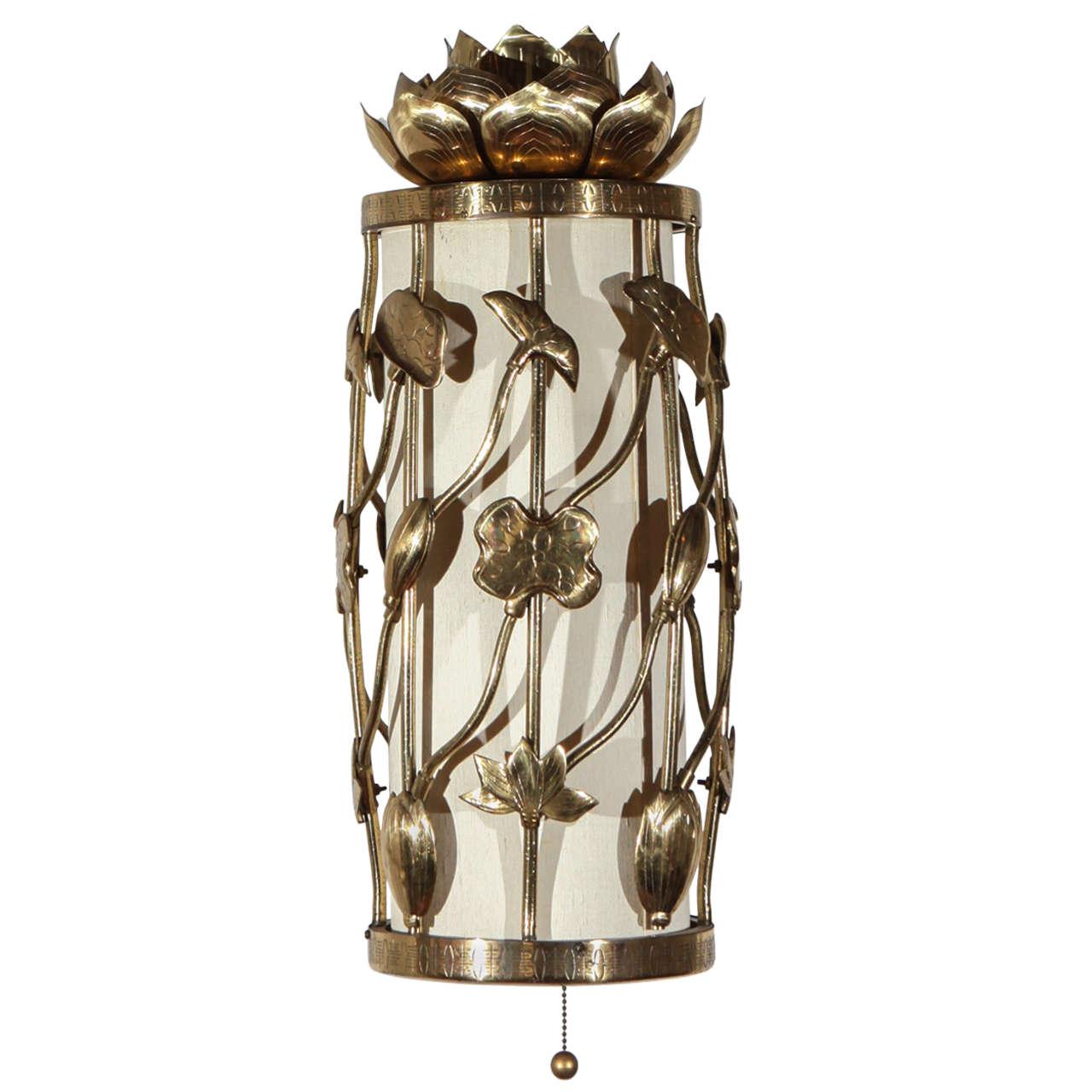 Brass Lotus Pendant