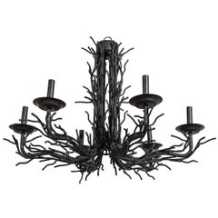Iron Faux Coral American Chandelier