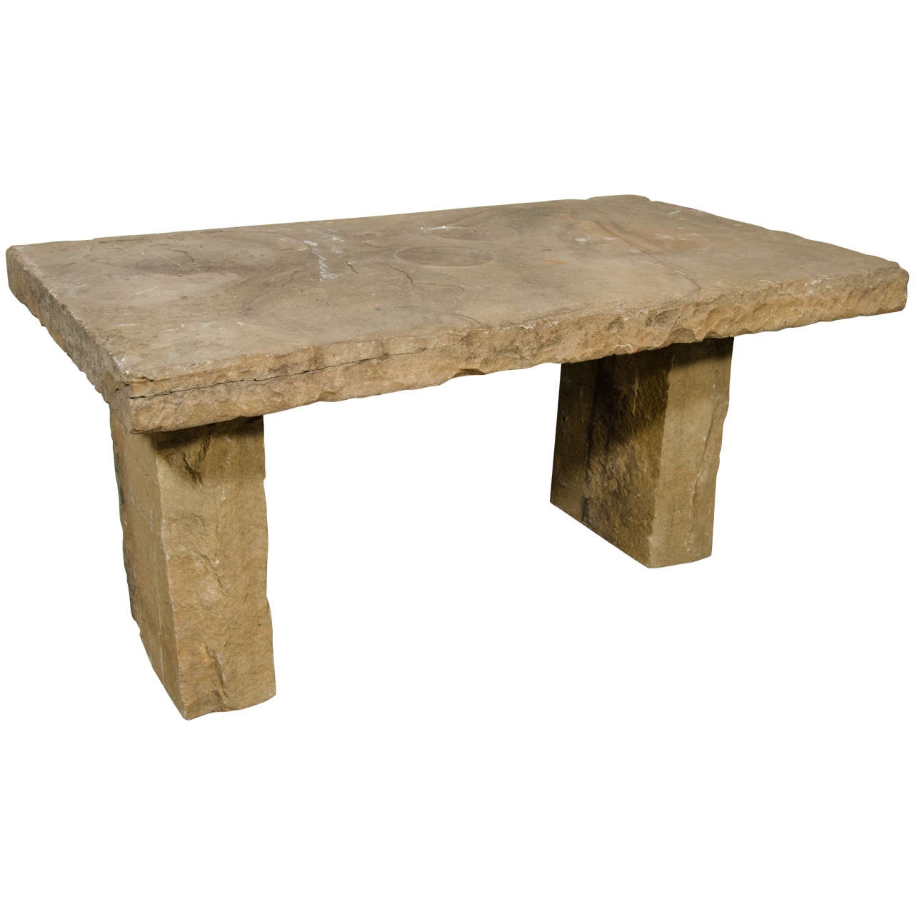 Usa Stone Bench At 1stdibs