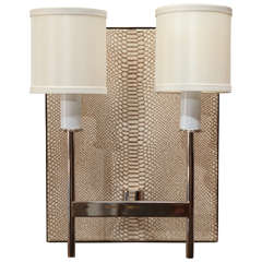 Paul Marra Python Backed Two-Arm Sconce