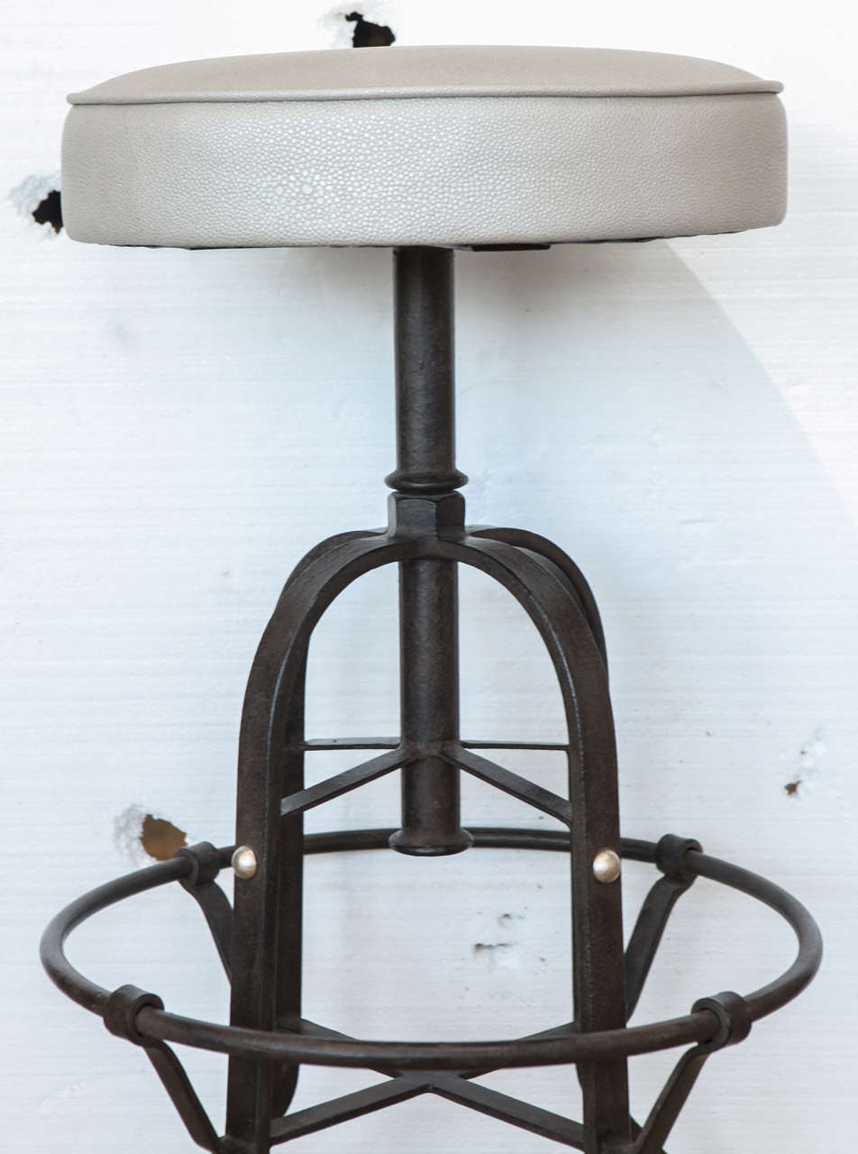 Swivel Bar Stool Industrial Style At 1stdibs