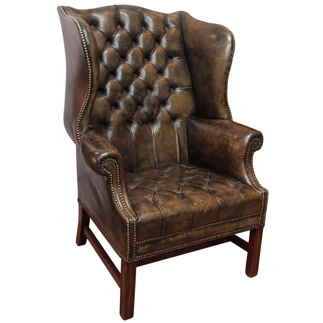 Antique english wing chair at 1stdibs for Wingback chair