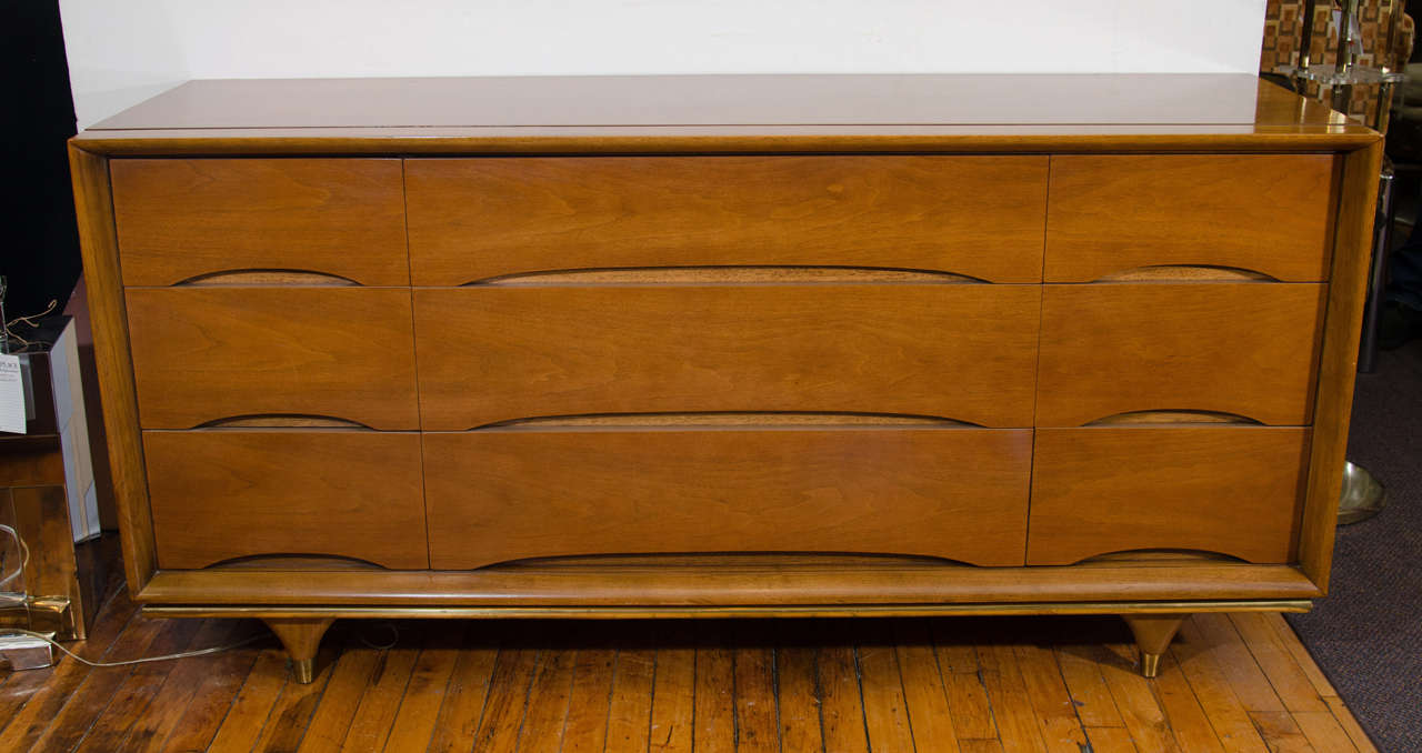 MidCentury Kent Coffey Dresser From The Elegante Line At Stdibs - Kent coffey bedroom furniture