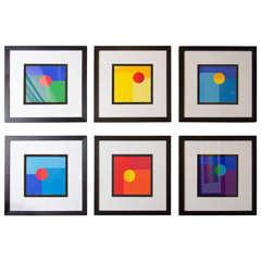 Mid-Century Set of Six Silk Screen Prints by Jo Niemeyer