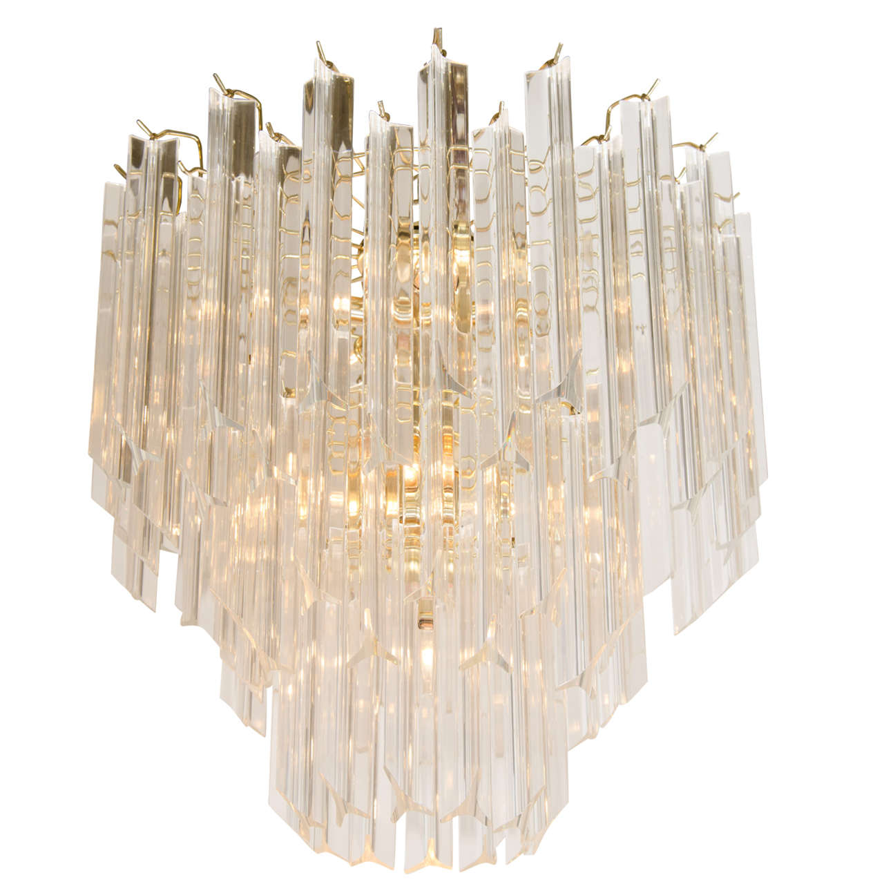 chandelier glass by lightolier excellent decaso for gaetano sciolari product and lucite rod