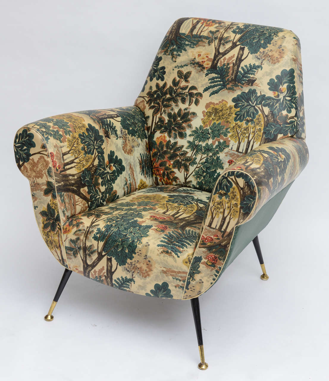 50's Italian Armchair with Original Upholstery (2 Available) 3