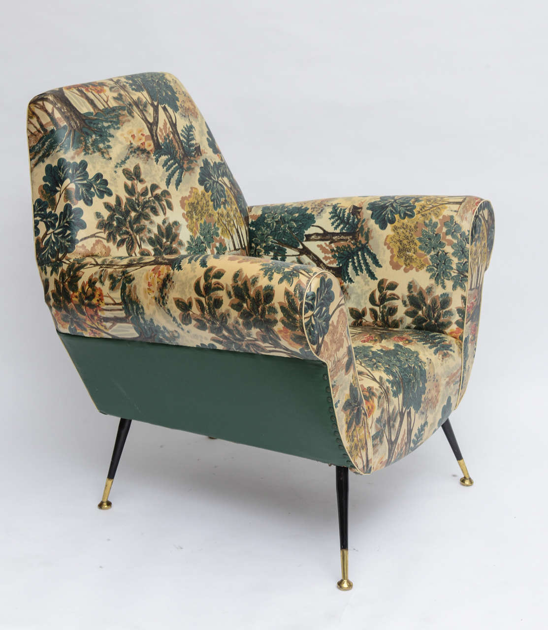 50's Italian Armchair with Original Upholstery (2 Available) 4