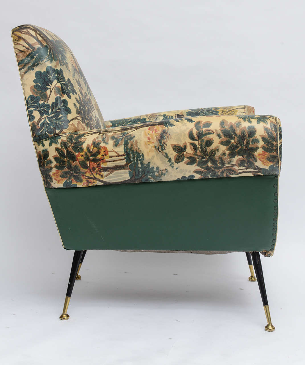 50's Italian Armchair with Original Upholstery (2 Available) 5