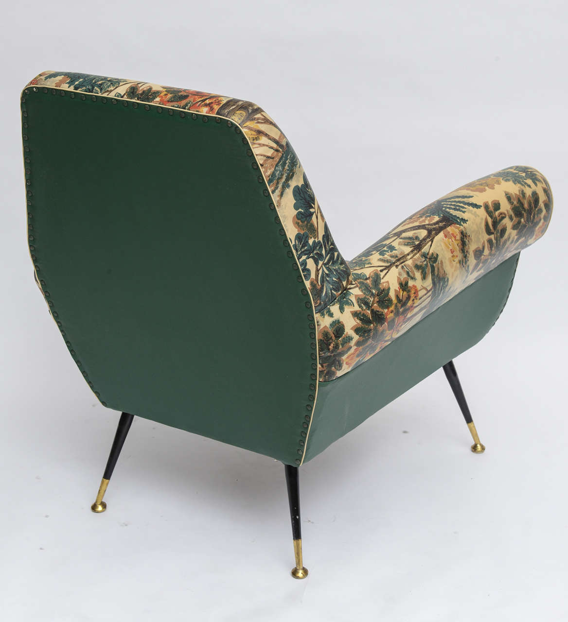 50's Italian Armchair with Original Upholstery (2 Available) 6