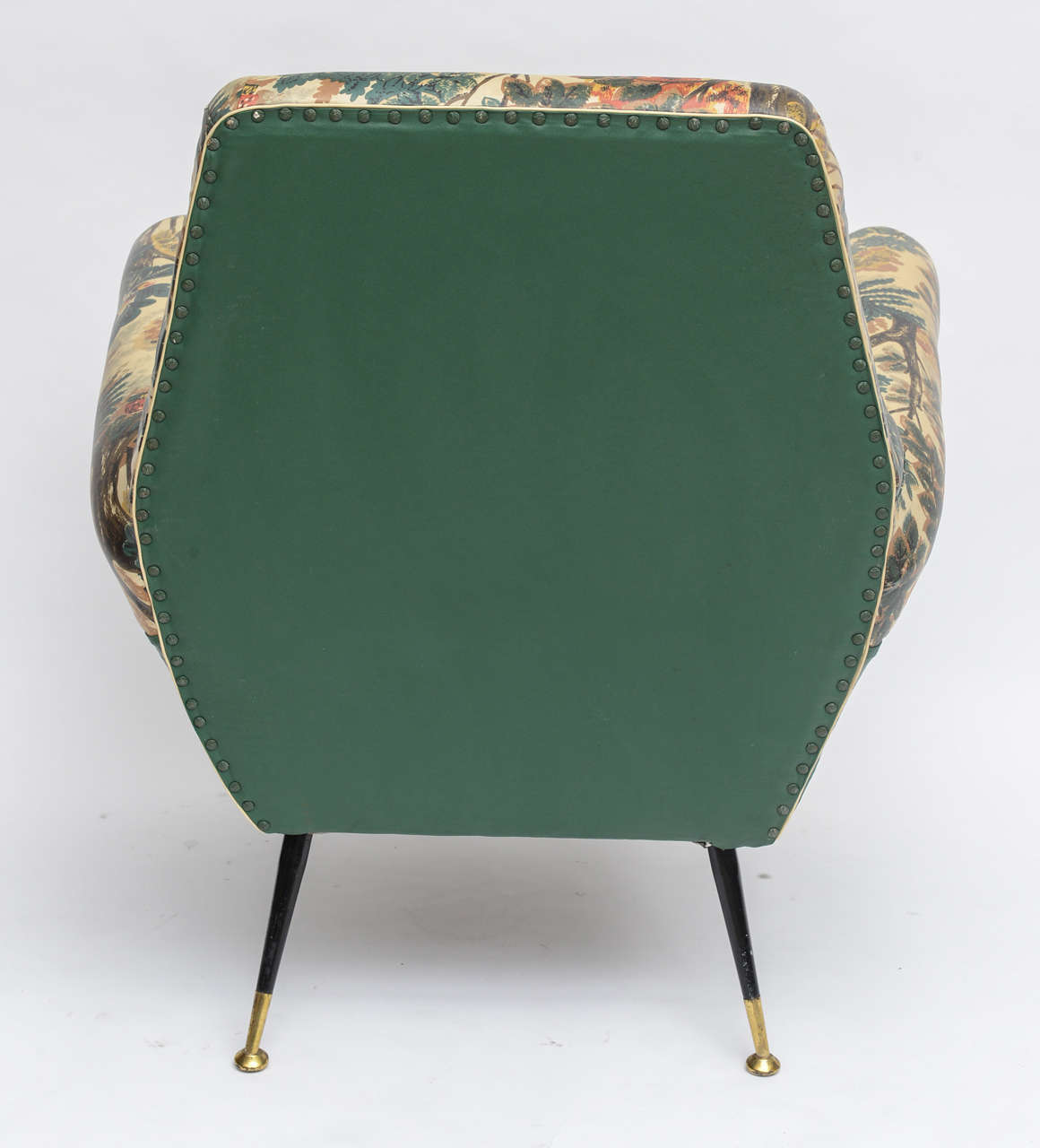 50's Italian Armchair with Original Upholstery (2 Available) 7