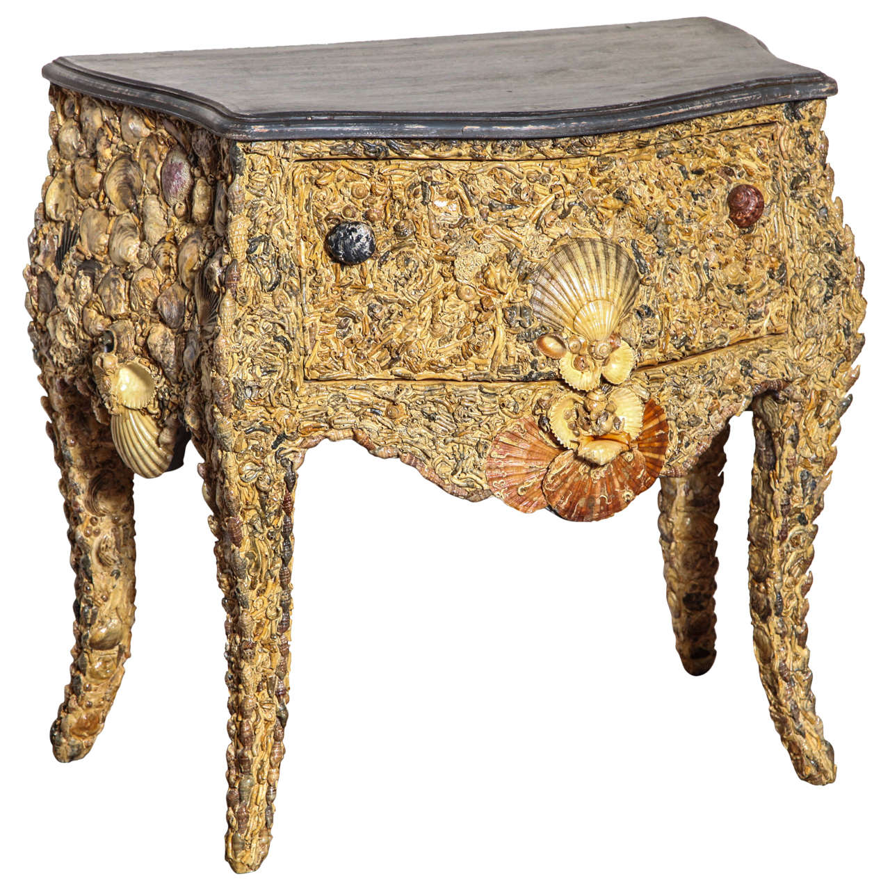 19th Century Italian Grotto Shell Commode For Sale