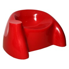 "Wendell Castle Red Fiberglass ""Castle Chair"""