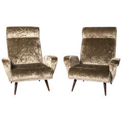 Marco Zanuso style armchairs, Italy circa 1950