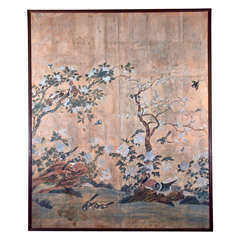 Antique Gracie Chinese Wallpaper Screen