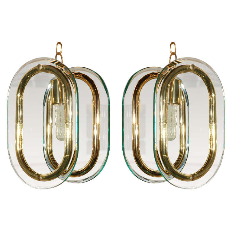 1960s Pair of Italian Pendants