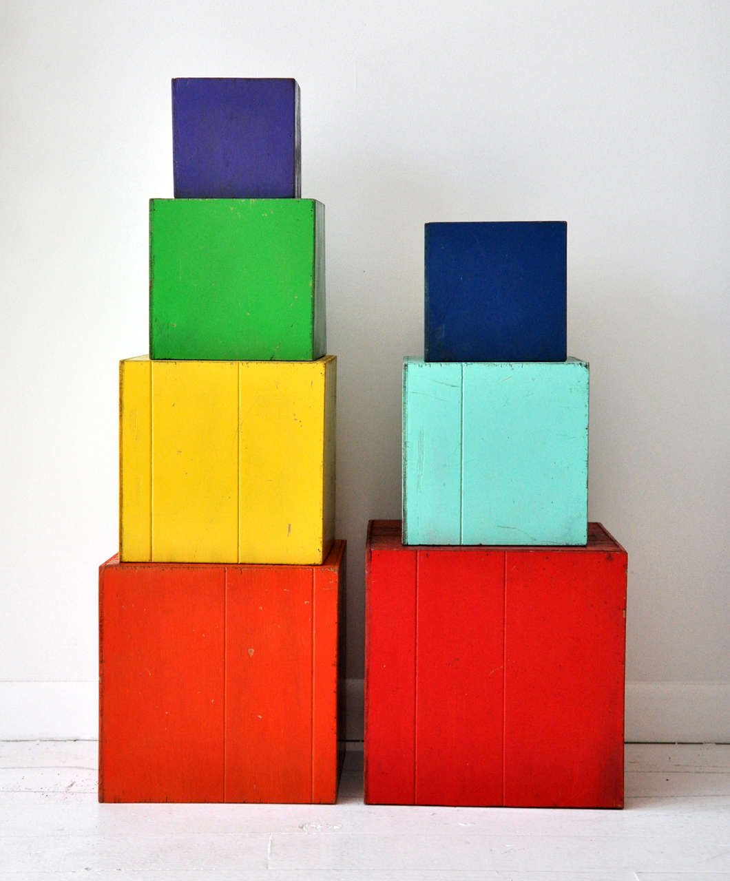 Multi Colored Amish Stacked Blocks At 1stdibs