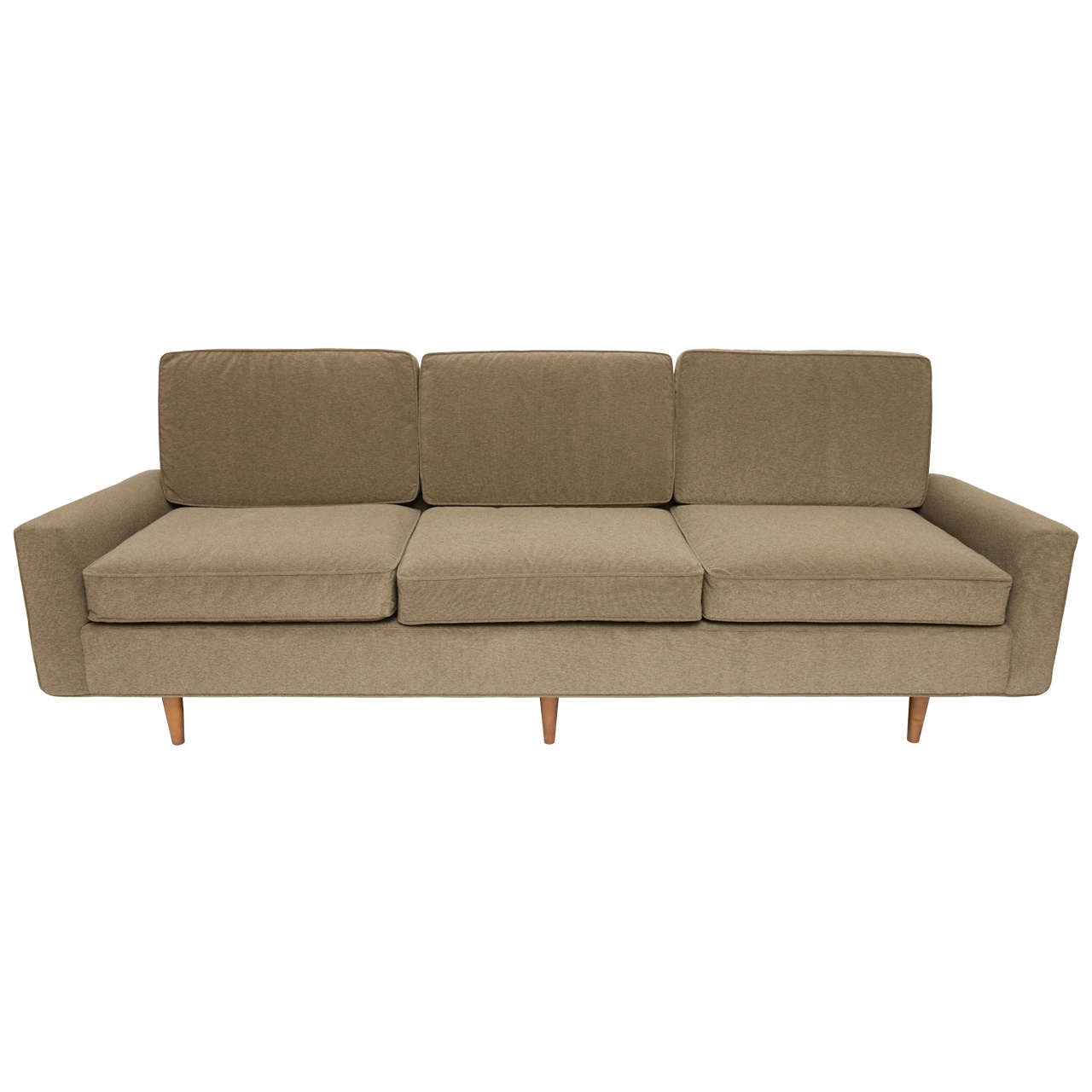 classic early florence knoll three seat sofa at 1stdibs. Black Bedroom Furniture Sets. Home Design Ideas
