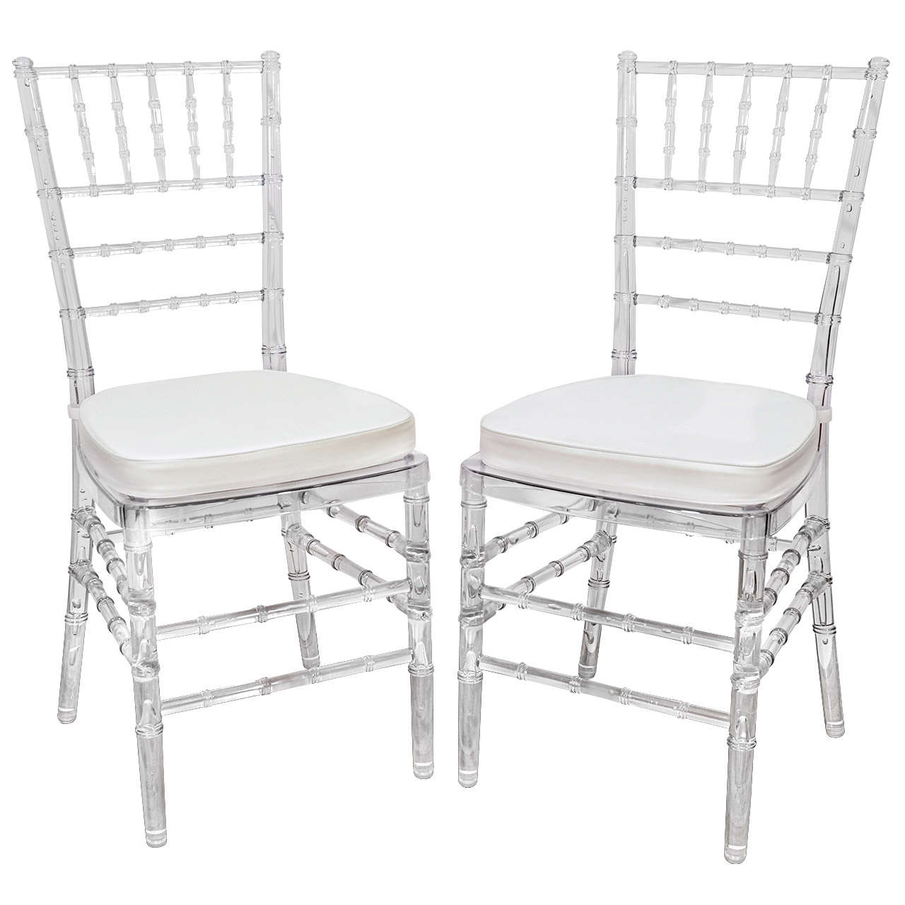 Captivating Set Of Eight Vintage Acrylic Chairs With Bamboo Motif At 1stdibs