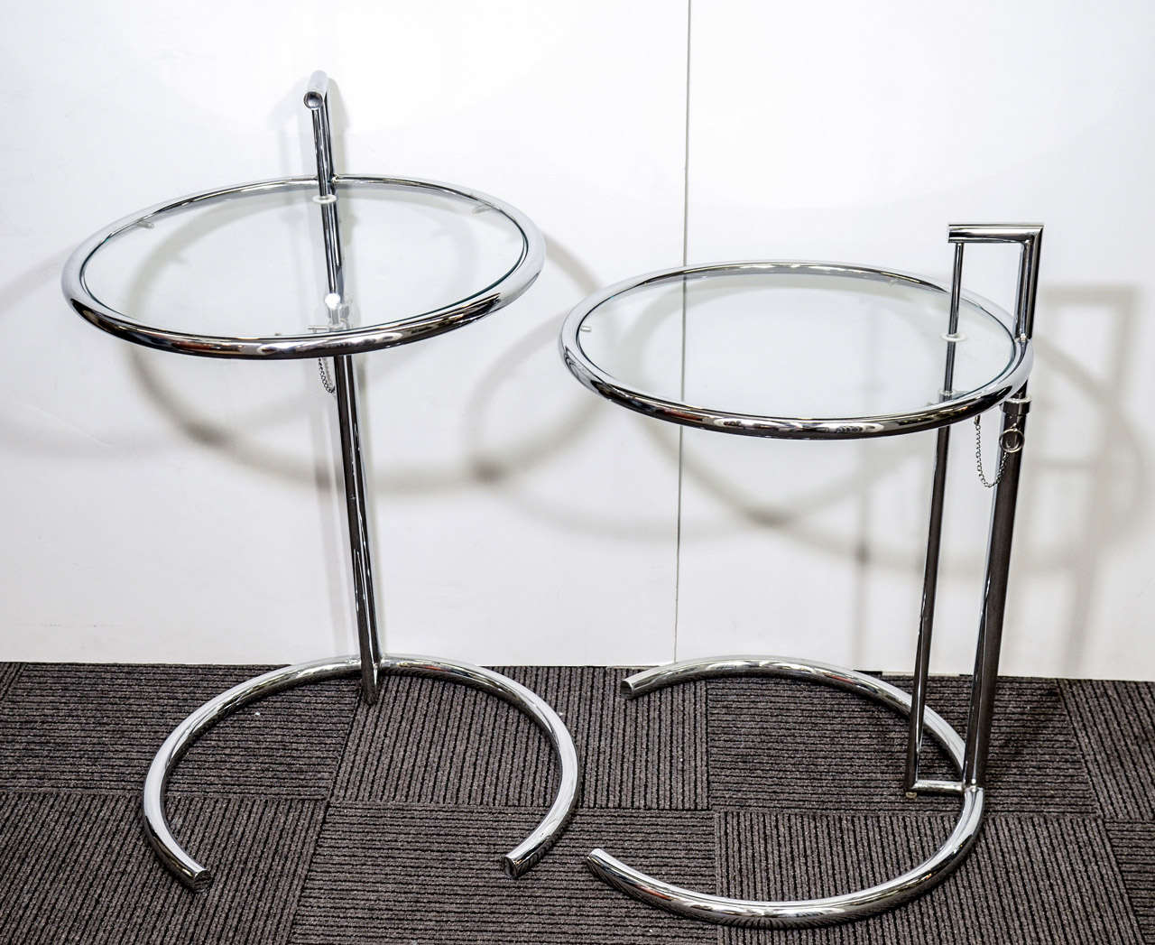 mid century adjustable side tables by eileen gray at 1stdibs. Black Bedroom Furniture Sets. Home Design Ideas