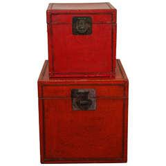Antique Leather Boxes