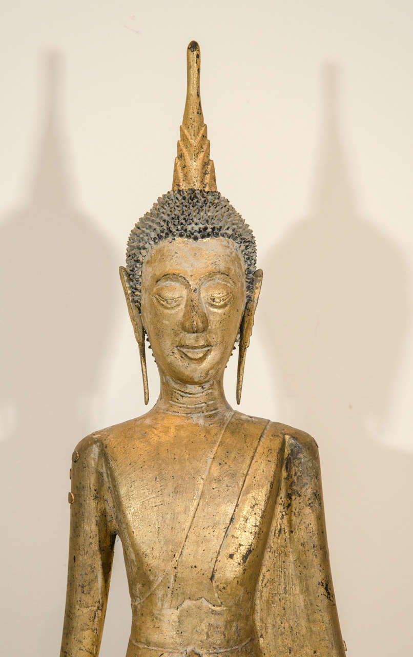 19th Century Laotian Buddha In Excellent Condition For Sale In New York, NY