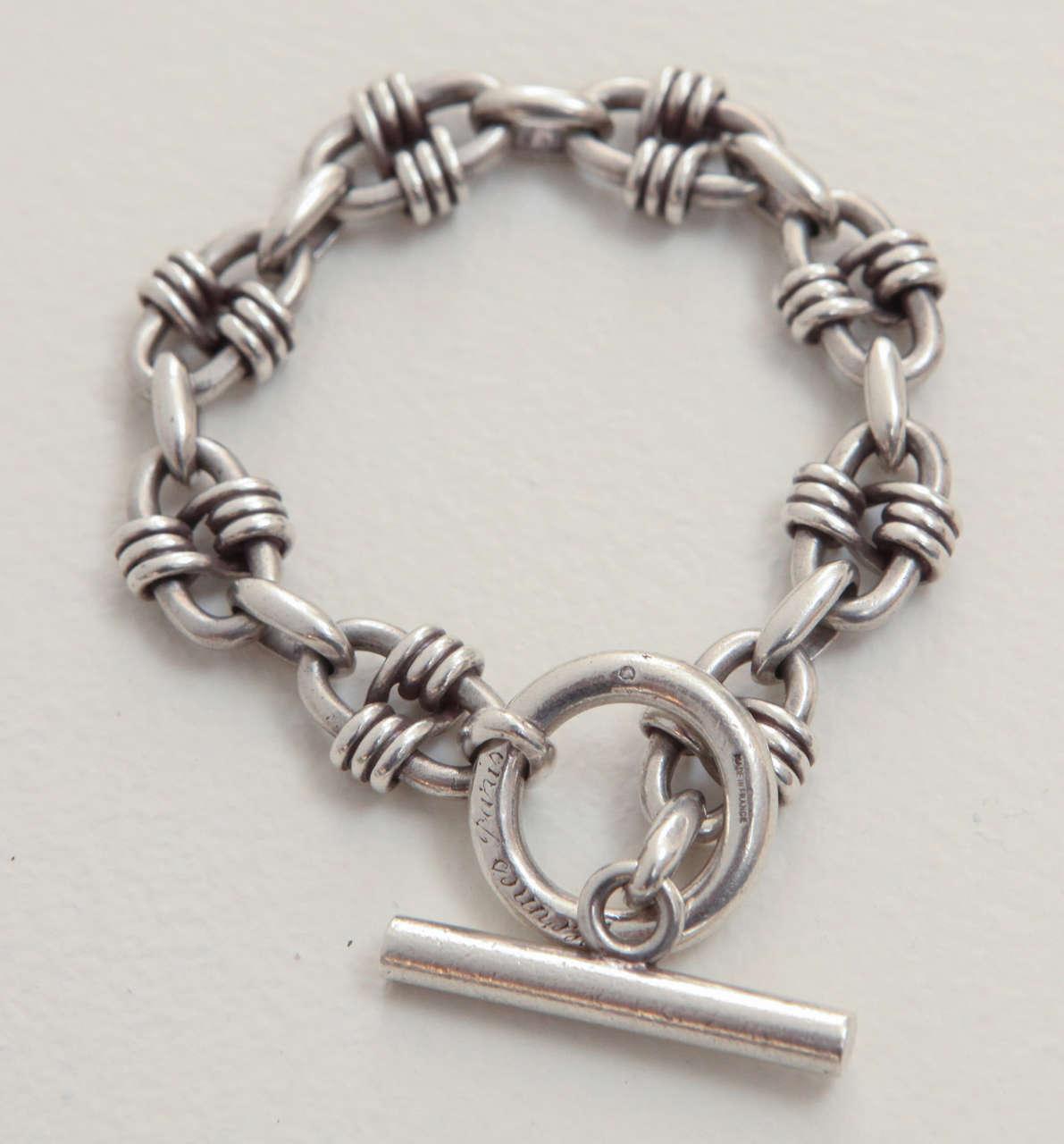Vintage Sterling Silver Hermes Bracelet At 1stdibs
