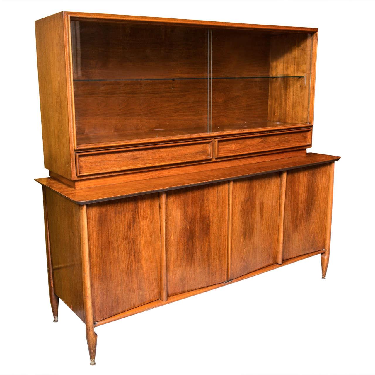 Mid Century Breakfront By Vanleigh Furniture At 1stdibs