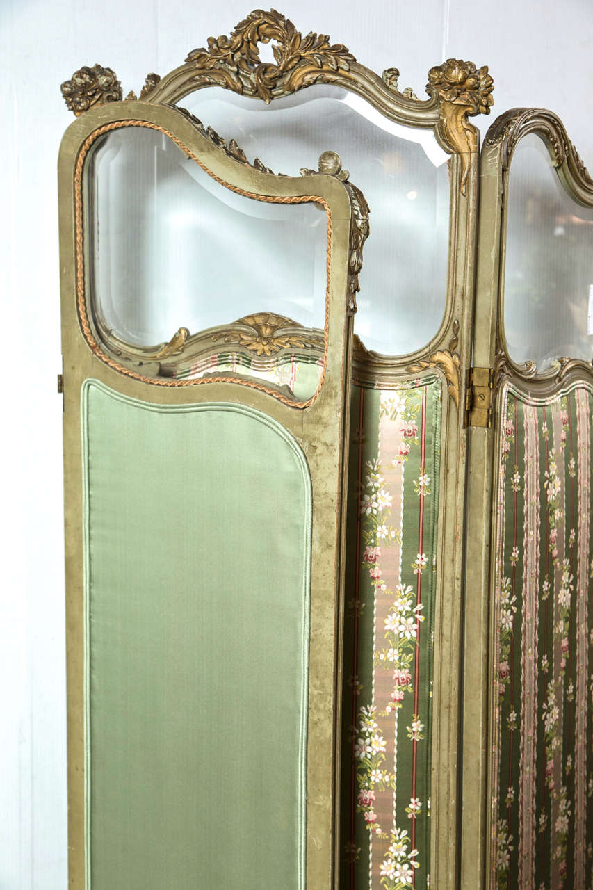 French Folding Screens : French three panel folding screen room divider at stdibs