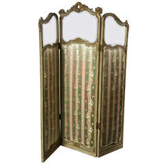 French Three Panel Folding Screen Room Divider