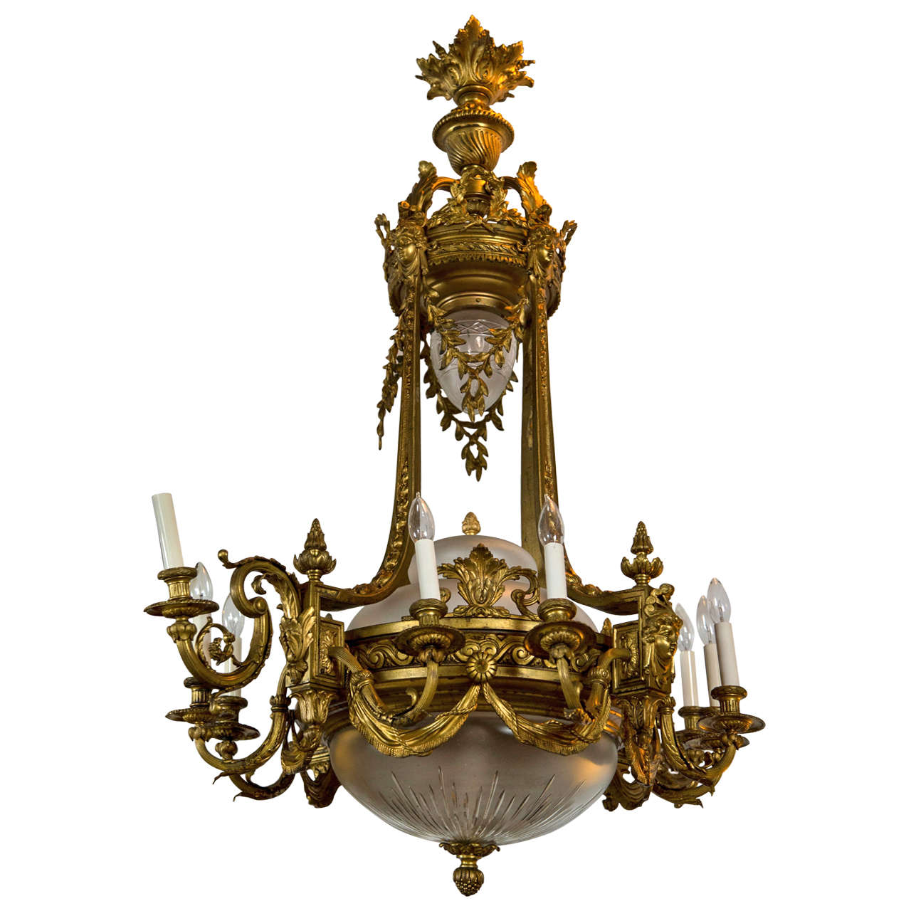 French Bronze Chandelier For Sale At 1stdibs