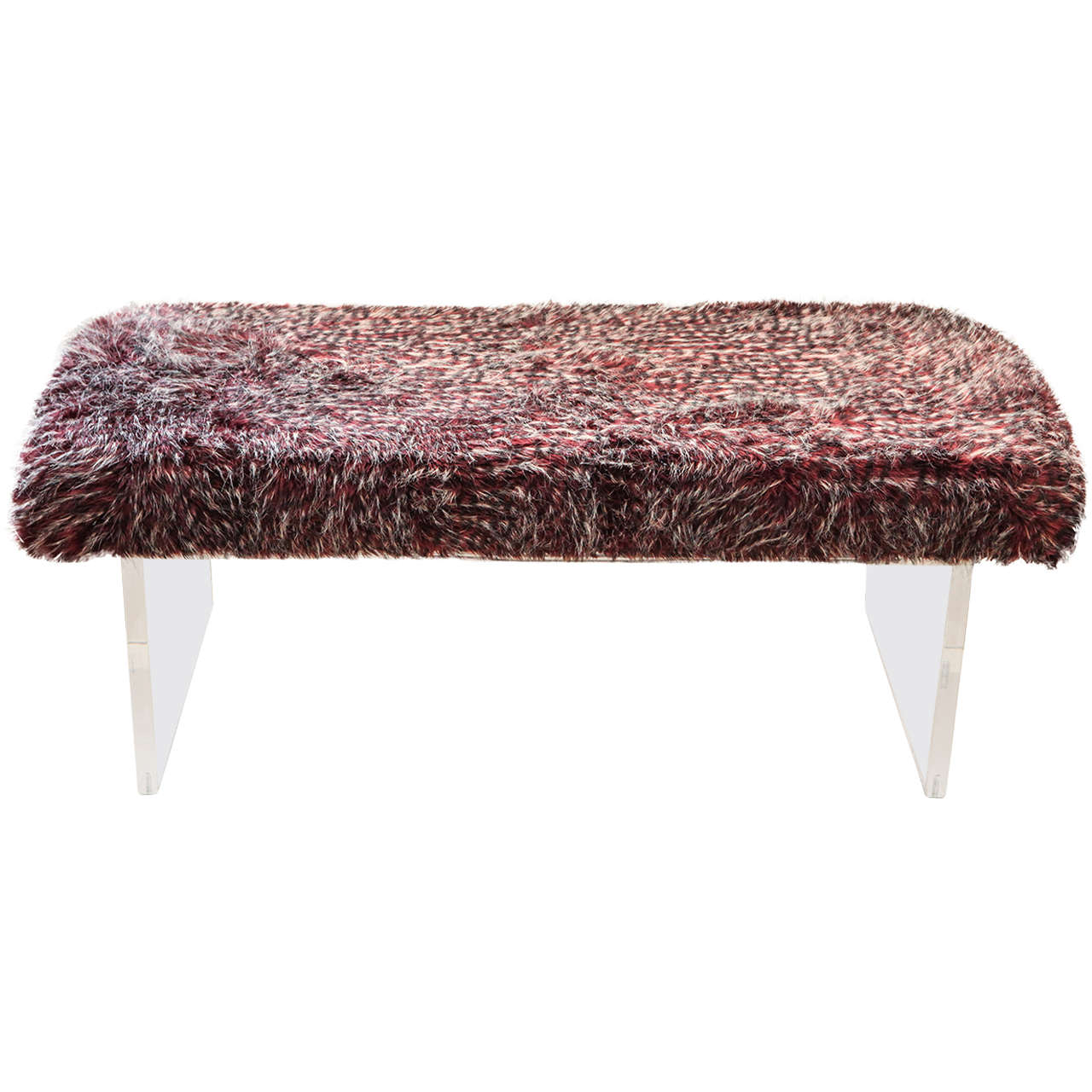 Anfibio Bed By Alessandro Becchi For Giovannetti 1960's Faux Fur Bench For Sale at 1stdibs