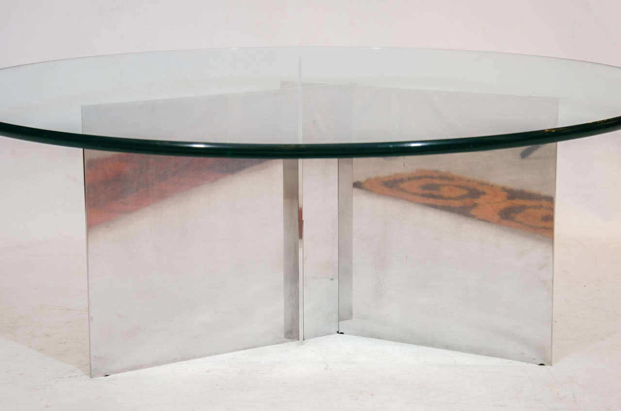 Paul mayen polished aluminum coffee table for sale at 1stdibs paul mayen polished aluminum coffee table 3 geotapseo Gallery