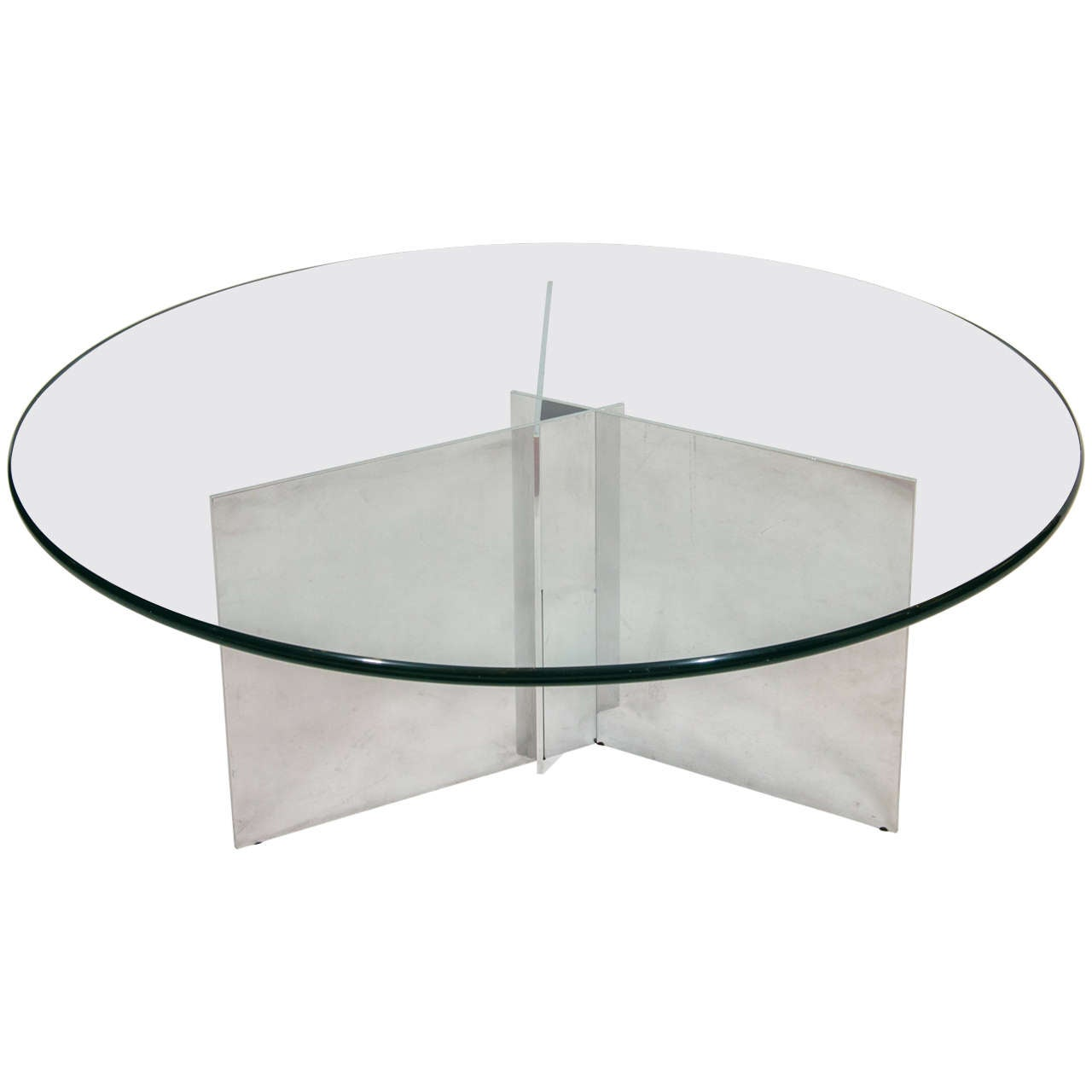 Paul Mayen Polished Aluminum Coffee Table For Sale At 1stdibs