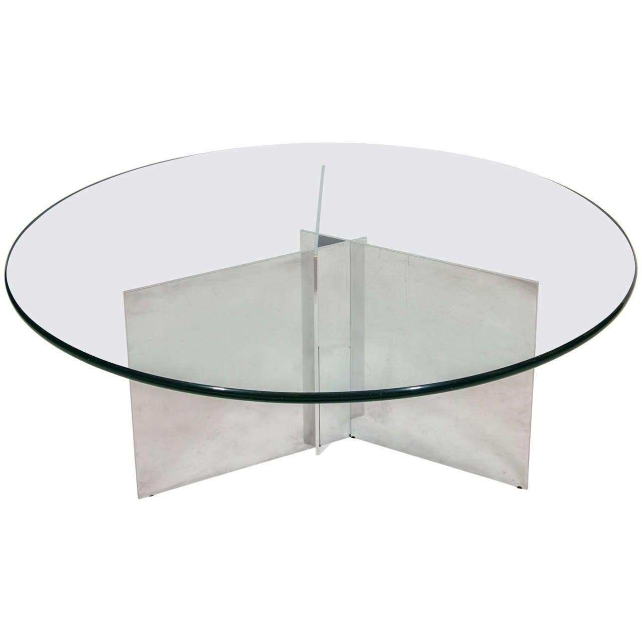Paul Mayen Polished Aluminum Coffee Table