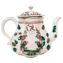 Salt-Glazed Teapot with Secret Jacobite Symbolism Made circa 1760