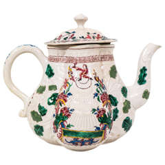 Salt-Glazed Teapot with Secret Scottish Jacobite Symbolism