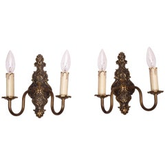 Brass Neoclassical Wall Sconces