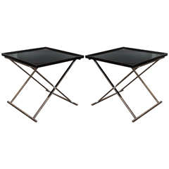 Pair of Lacquered Folding Tables