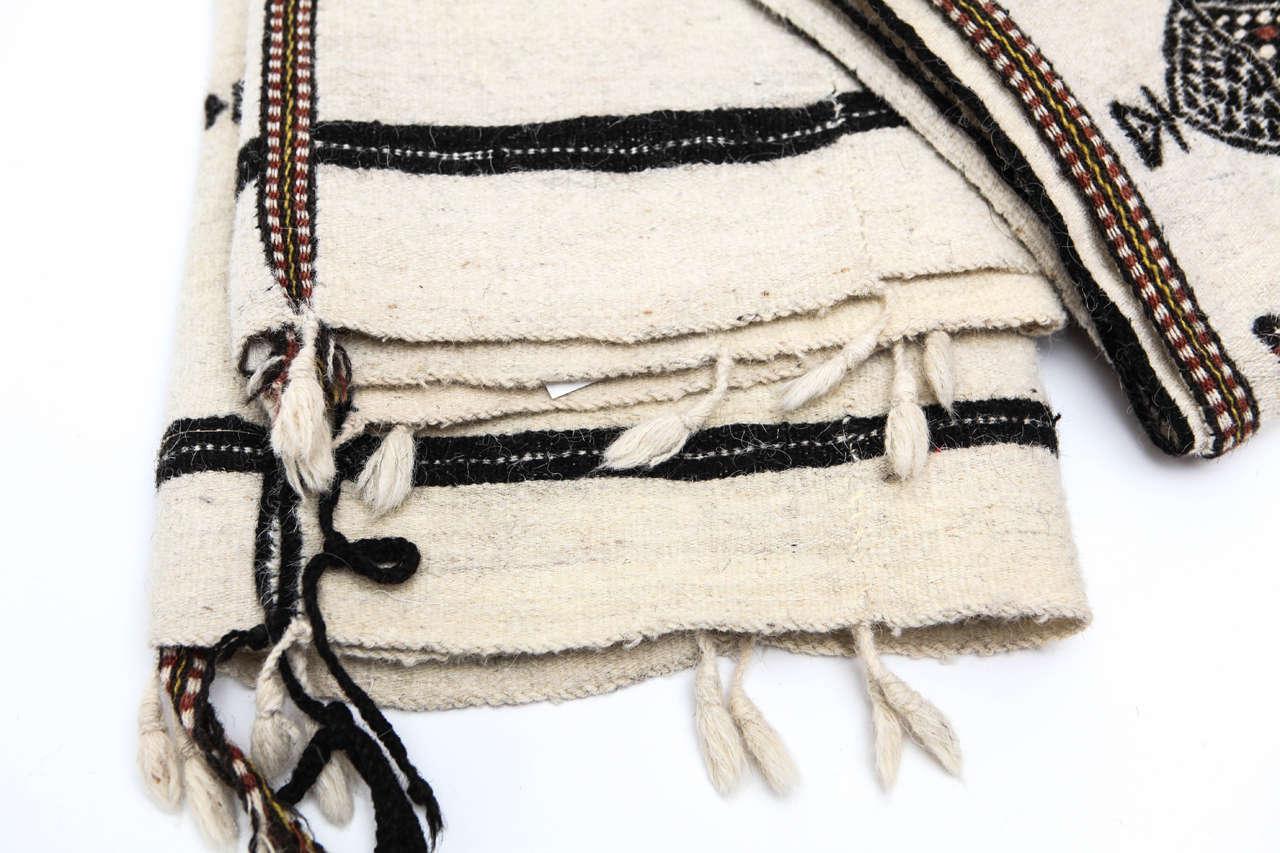 Hand-Woven Vintage West African Fulani Wedding Blanket For Sale