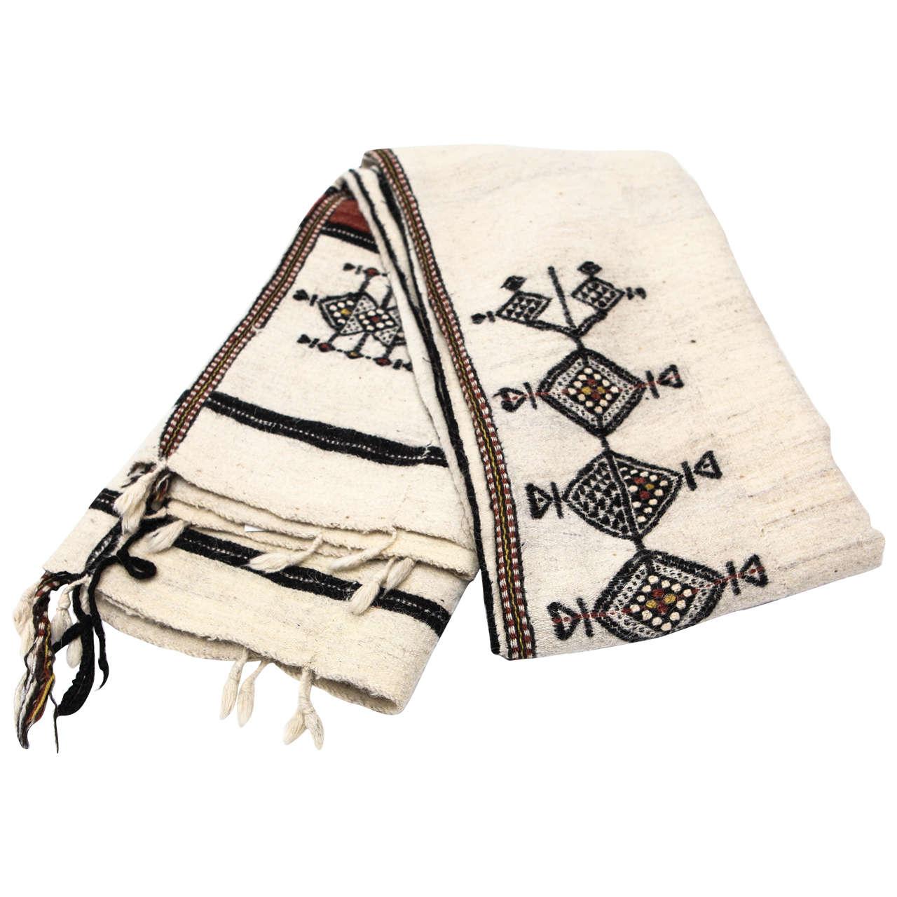 Vintage West African Fulani Wedding Blanket For Sale