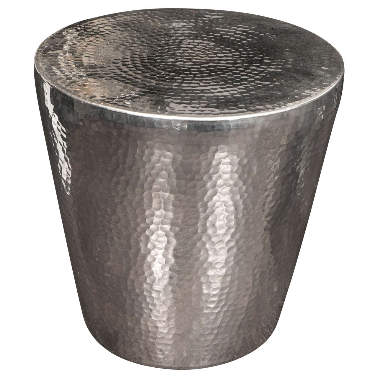 Hammered Metal Side Table At 1stdibs
