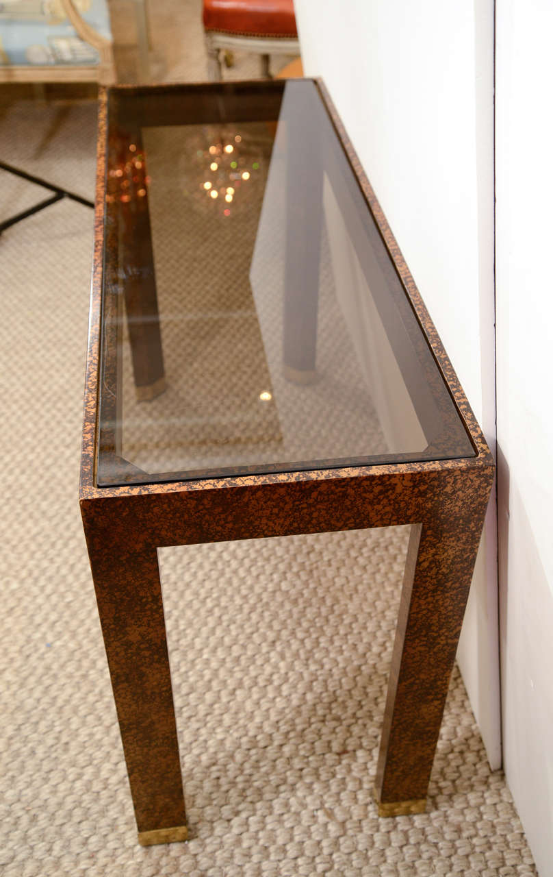 A Pair Of Vintage Henredon Console Tables At 1stdibs