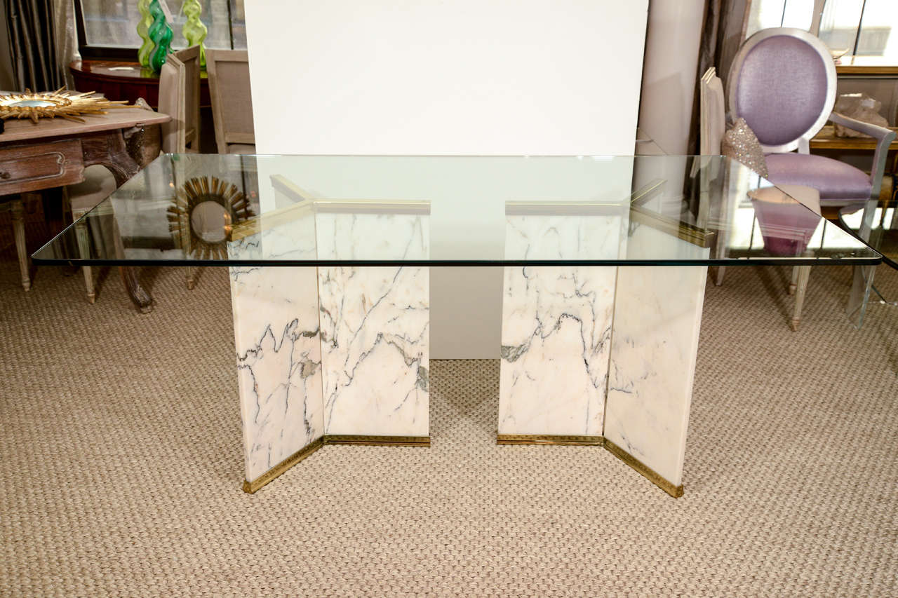 Marble Pedestal Dining Table At 1stdibs