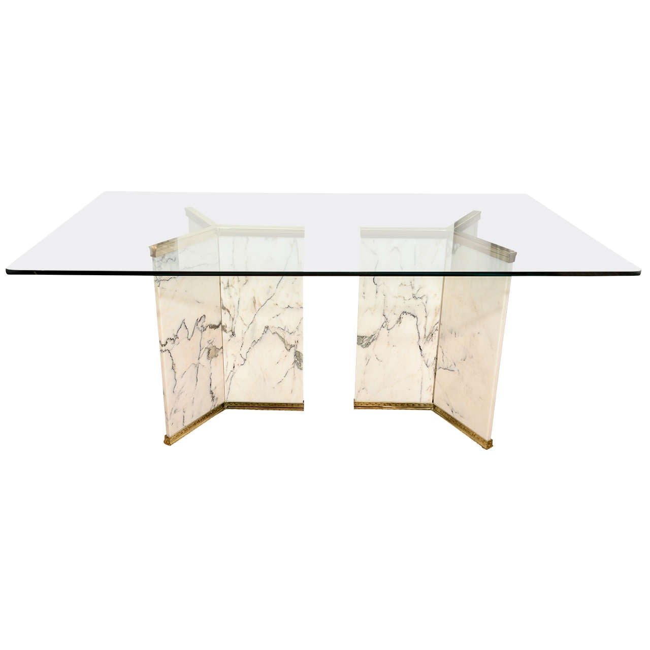Marble Pedestal Dining Room Table