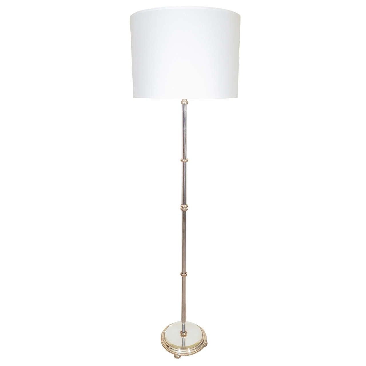 Chrome and nickel floor lamp at 1stdibs for Lexington floor lamp chrome